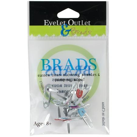 Eyelet Outlet Shape Brads 12/Pkg-Safety Pins