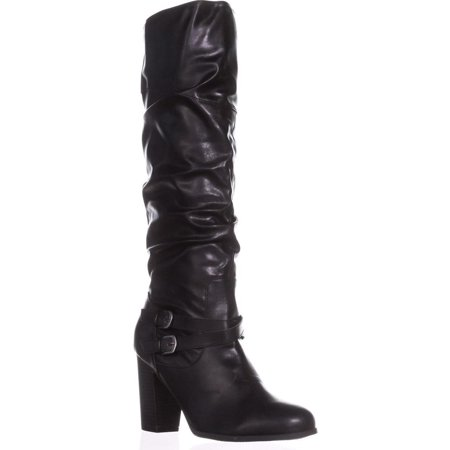 Womens SC35 Sophiie Knee High Slouch Boots, Black