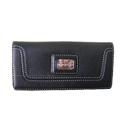2850bc7ebd27 michael kors - michael kors brookville black leather carryall wallet ...