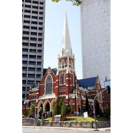Albert Street Uniting Church Brisbane Queensland Australia Canvas Art - David Wall  DanitaDelimont (17 x 26)