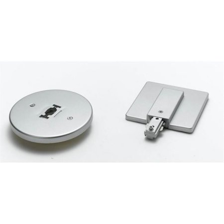 Round Line Voltage Monopoint Plate, Brushed Steel