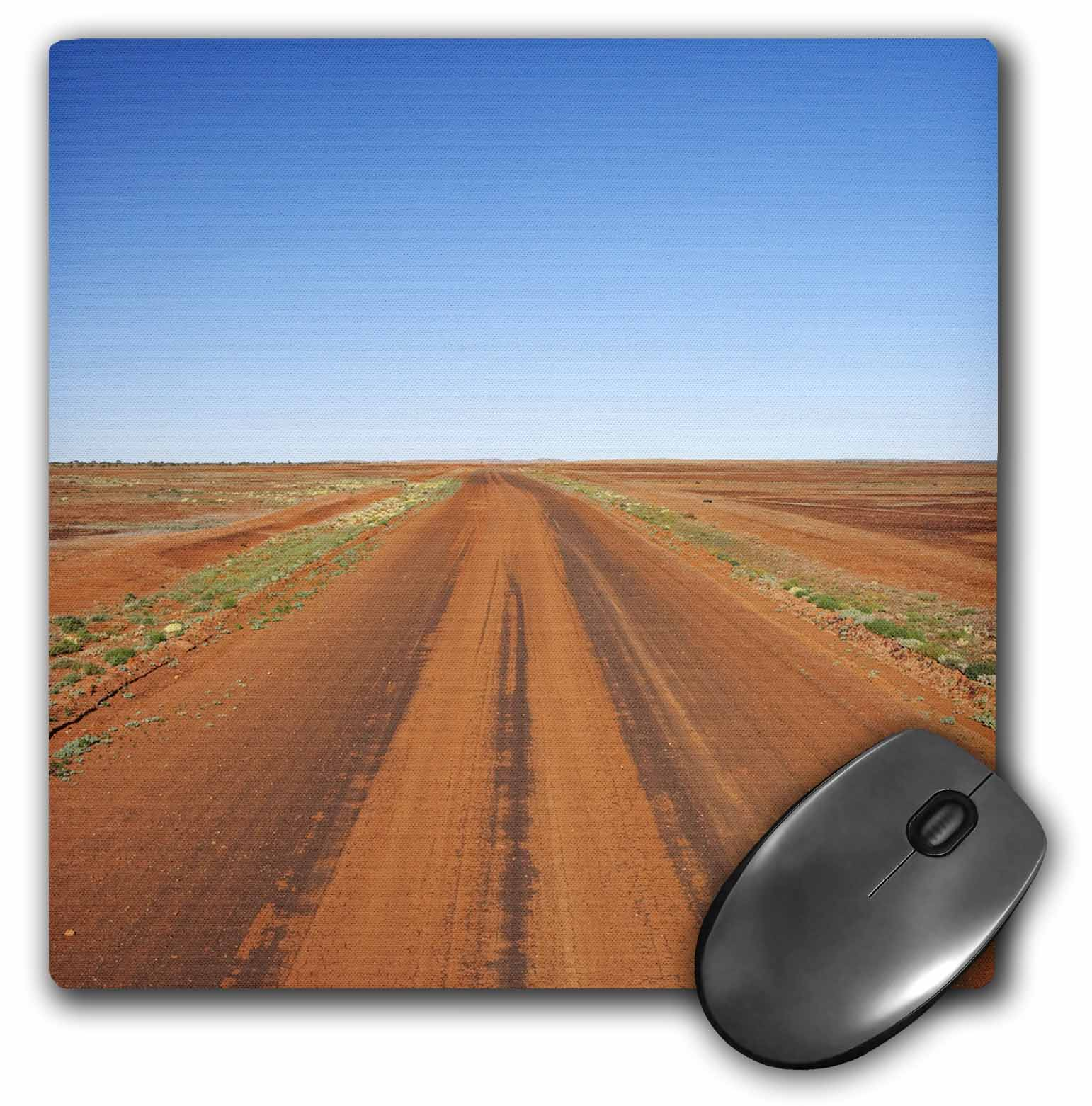 3dRose Outback Road, Sturt NP, New South Wales, Australia-AU01 DWA2250 - David Wall, Mouse Pad, 8 by 8 inches