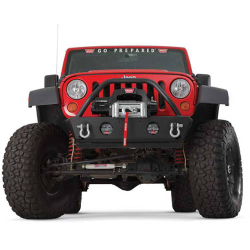 Warn Rock Crawler Front Stubby Jk Jeep Bumper with Grill ...