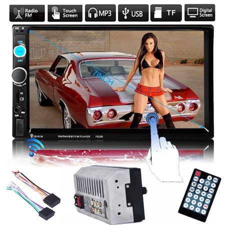 7  Bluetooth In Dash Car Stereo Mp5 Player Double Din Fm Usb Sd Touch Radio Aux