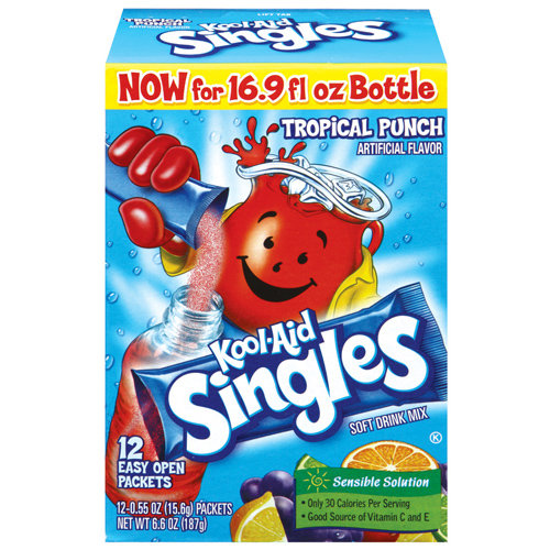 Kool-Aid Tropical Punch Drink Mix Singles, 12ct