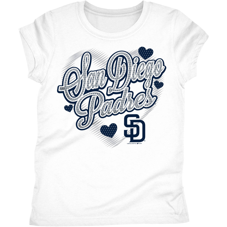 San Diego Padres Girls Short Sleeve Graphic Tee
