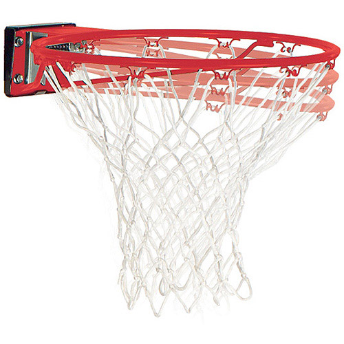 Spalding Slam Jam Breakaway Mounted Basketball Hoop Rim and Net