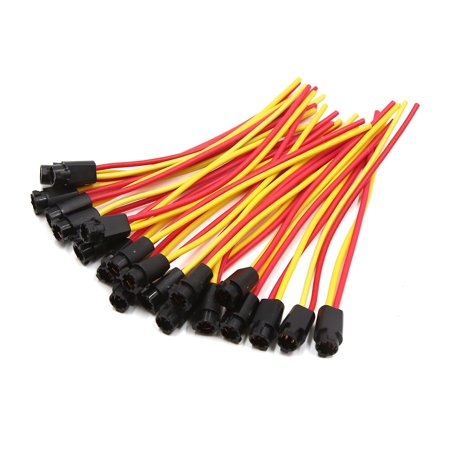 20pcs T5 Dashboard Light Bulb Wiring Harness Socket Connector for Car