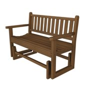 Recycled Earth-Friendly Sand and Sea Outdoor Patio Glider Bench - Raw Sienna