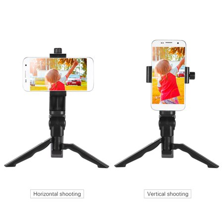 Mini Tabletop Tripod Stand Handheld Grip Stabilizer with Universal Smartphone Clip Holder Bracket for Digital Camera for 7 Plus/7/6/6 Plus/6s - image 6 de 7