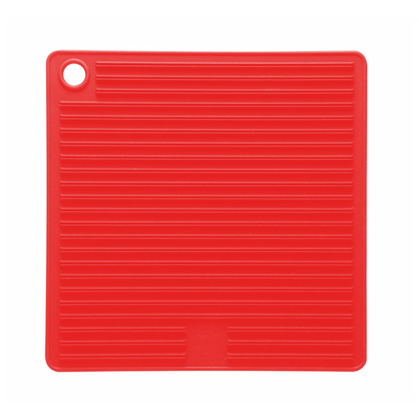 Mastrad Orka Silicone Pot Holder & Trivet, Red