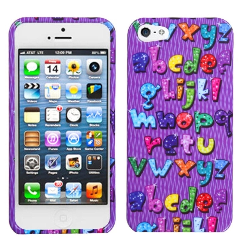 Insten Alphabet Bling Phone Case for Apple iPhone SE / 5S / 5