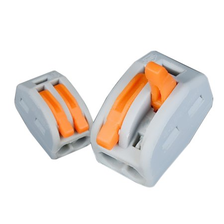 Fast Wire Connector Universal Junction Compact Wiring Connectors PCT-212 Many Models For Choose 10pcs 2 Way Electric Cable (Connecting 4 Wires In A Junction Box)
