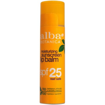 Botanical Lip Balm (4 Pack - Alba Botanica Moisturizing Sunscreen Lip Balm Spf 25 0.15 oz )