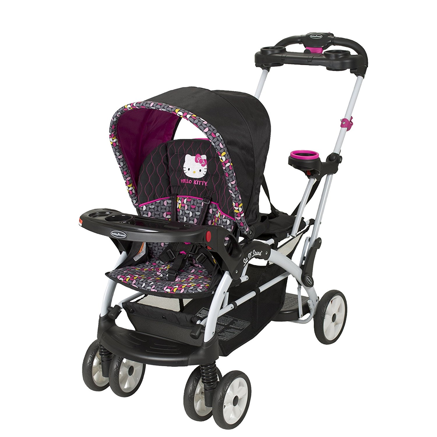 Baby Trend Sit N Stand Ultra Double Stroller - Hello Kitty Pinwheel