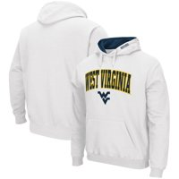 West Virginia Mountaineers Colosseum Arch & Logo Tackle Twill Pullover Hoodie - White
