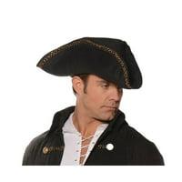 Tricorn Pirate Adult Costume Hat Black One Size