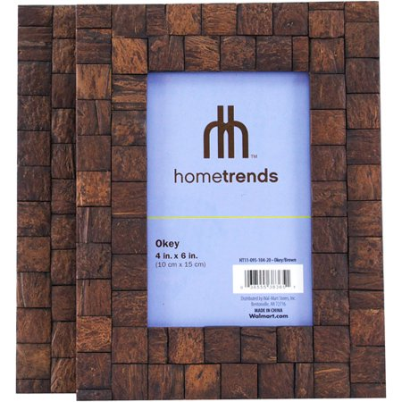 hometrends okey 4x6 picture frames set of 2