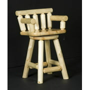 30 in. Swivel Log Captains Chair (Clear)