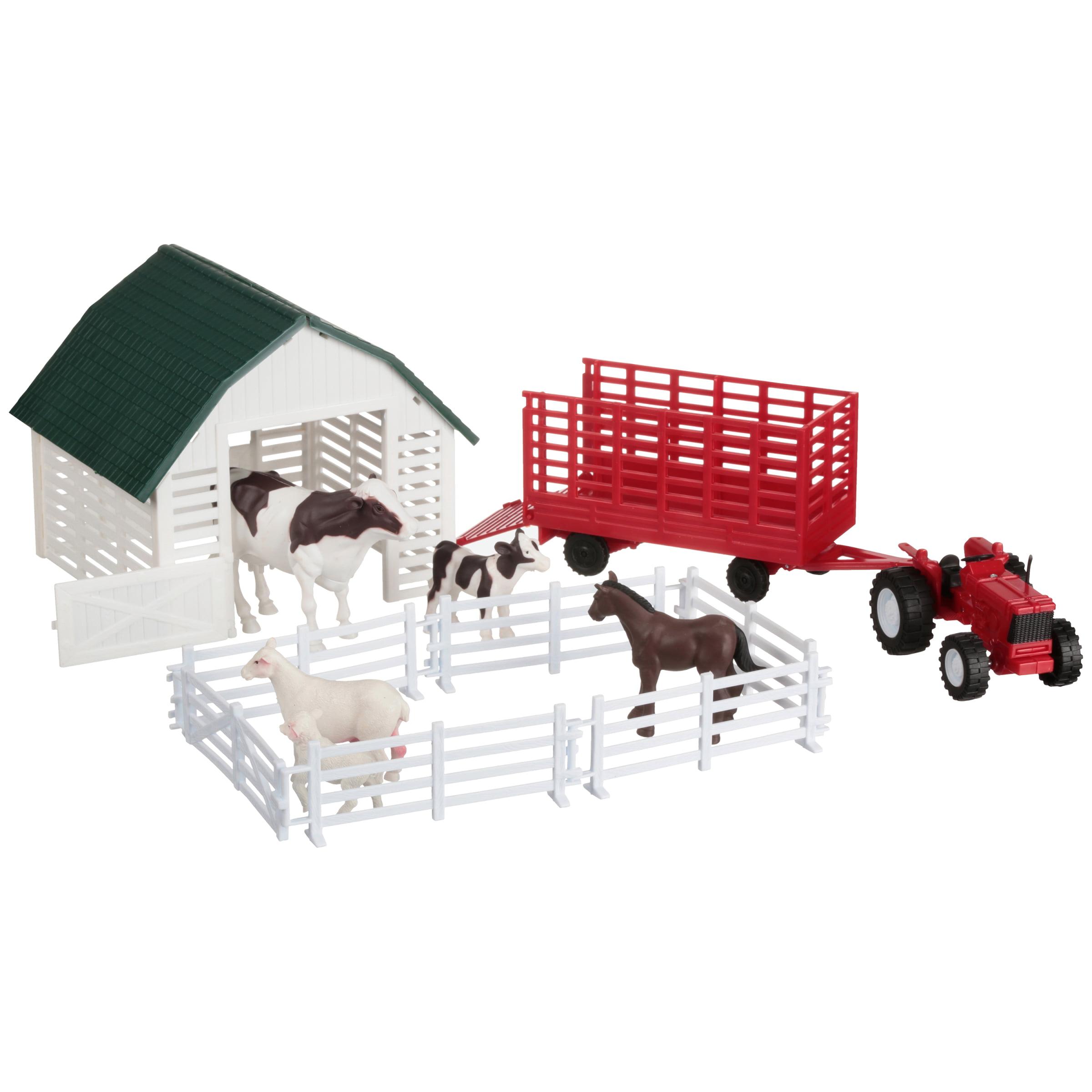 NewRay Country Life Farm Animals & Accessories 9 pc Box by New-Ray Toys Company Limited