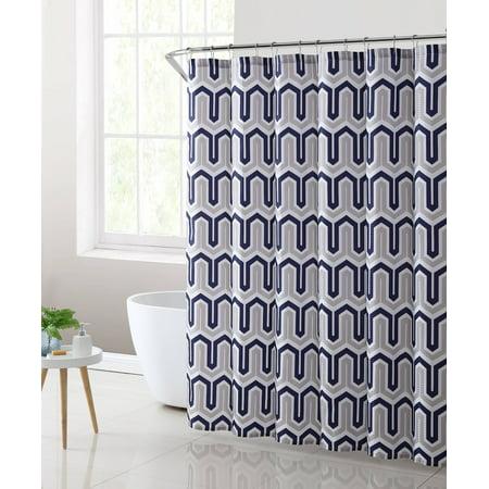 Mainstays London Geometric Fabric Shower Curtain, 1 Each ()