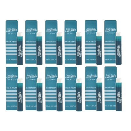 LE MALE Jean Paul Gaultier JPG .8 EDT Travel Spray pack of 12 - Les Paul Skin