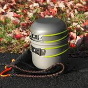 Mymisisa DS-101 Outdoor Camping Cookware Set Portale Green Handle Tableware Pot