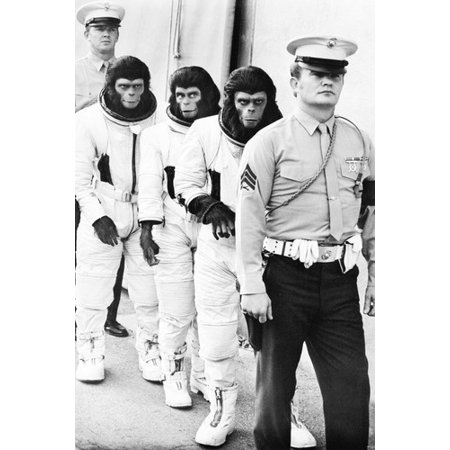 (Roddy McDowall, Kim Hunter and Bradford Dillman in Escape from the Planet of the Apes 24x36 Poster)