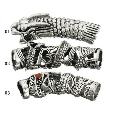 3Pcs Norse V ikings Beads Hair Tube Beads Dreadlocks for Beards Hair Paracord Pendants & Bracelets DIY - image 5 of 7