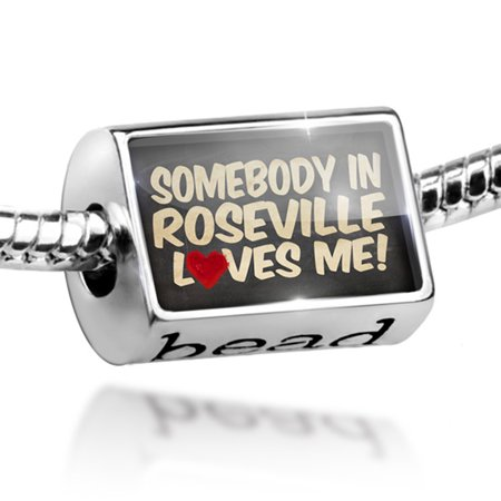 Bead Somebody in Roseville Loves me, California Charm Fits All European Bracelets