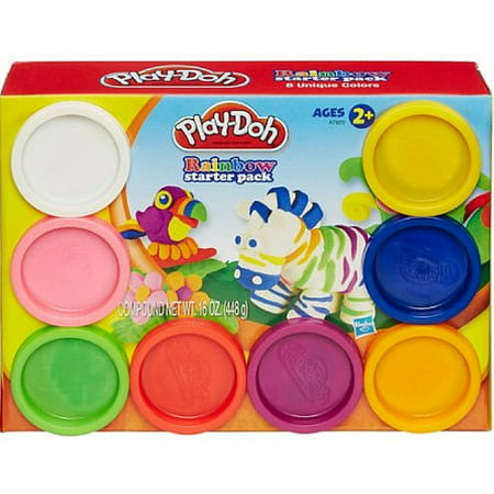 Play-Doh Rainbow Starter Pack with 8 Cans of Dough, 16 oz