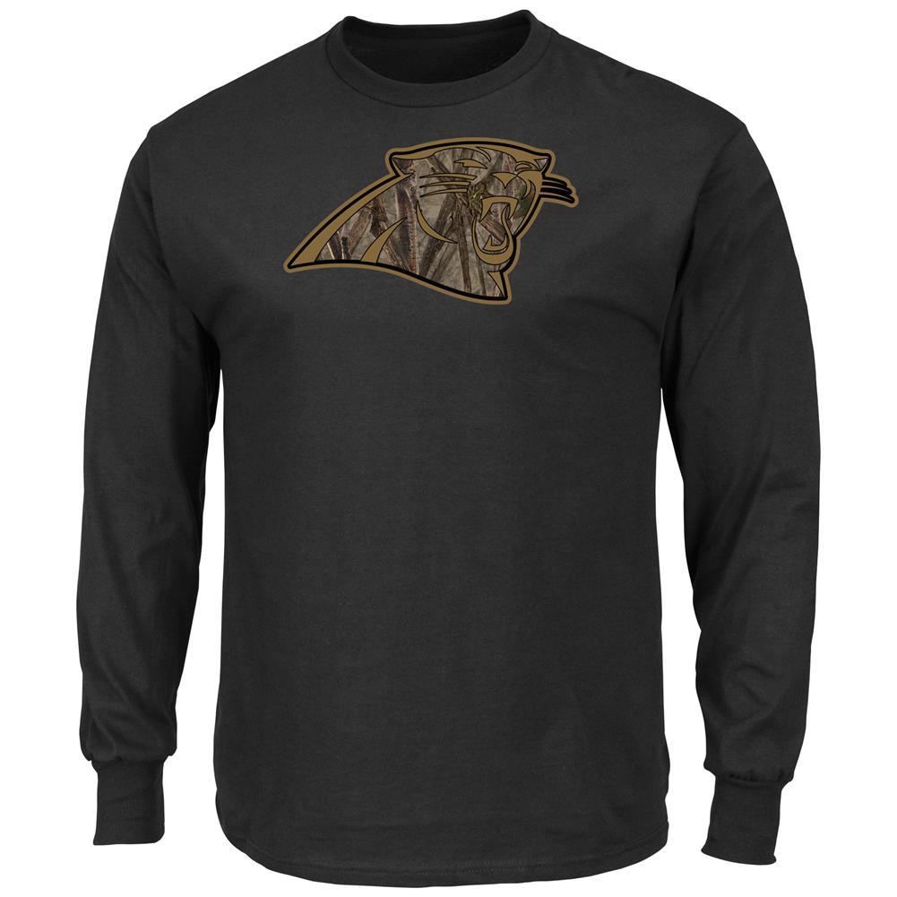 Crew Neck Majestic Camo Carolina Panthers Long Sleeve Tee