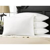 4Pk Exquisite Hotel Gel-Fiber Filled Soft Density Pillows