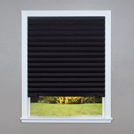 Original Blackout Pleated Paper Shade Black, Multiple Sizes, 6 pack