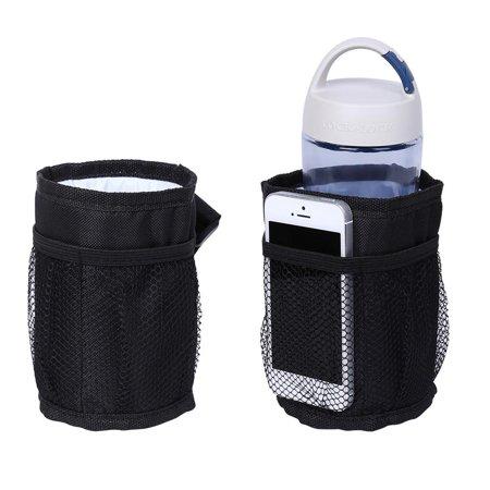 Mavis Laven Bottle Bag, Milk Bottle Case,1pc Black Color Drink Water Bottle Universal Holder for Baby Stroller Insulation Cup Bag