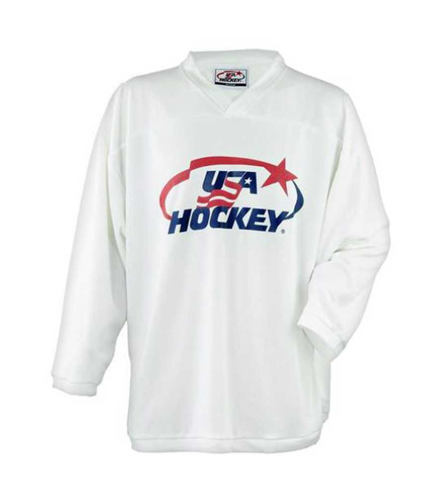 USA Hockey Youth Practice Ice Hockey Jersey Mid-Weight Black, Navy, Red or White by USA Hockey