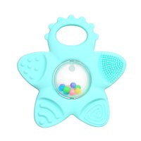 Baby Teething Toy Cartoon Shape Multi-function Teethers Soft Silicone Food Grade Non-toxic Safe for 3 Months Baby Infant Toddler