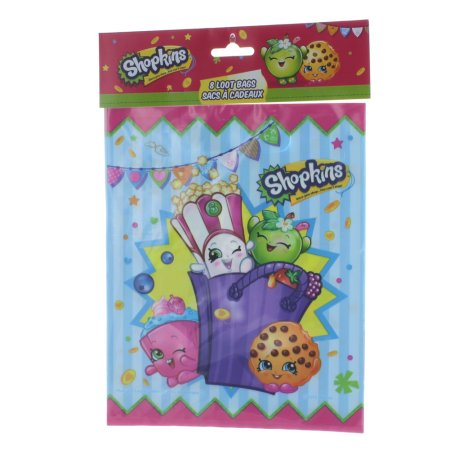 Favor Bags ((4 Pack) Shopkins Favor Bags,)