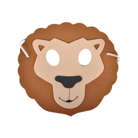 New Halloween Costume Party Foam Zoo Animal Lion Mask](Zone News Halloween)