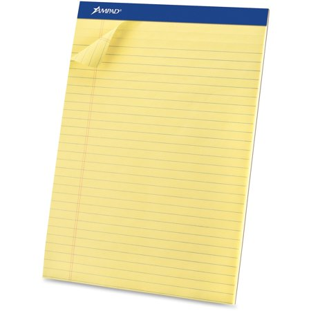 Ampad Legal Pad - Ampad, TOP20260, Basic Perforated Writing Pads - Legal, 12 / Dozen