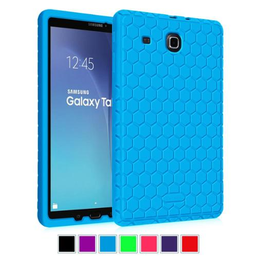 Fintie Samsung Galaxy Tab E 9.6 / Tab E Nook 9.6 Tablet Silicone Case Lightweight Shockproof Cover, Blue