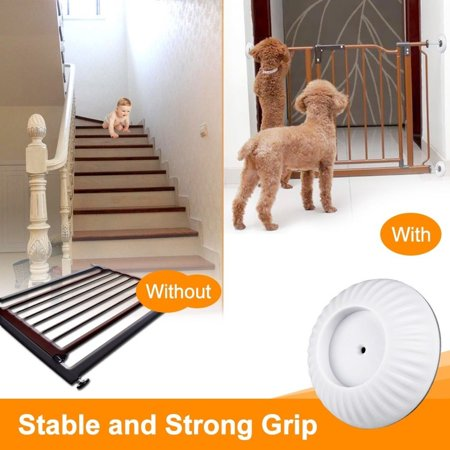 baby gate wall protector, 4 pack universal strong grip wall protector guard cups pads for dog gates walk through pressure mounted gates, make of non-toxic - Halloween Escape Game Walkthrough