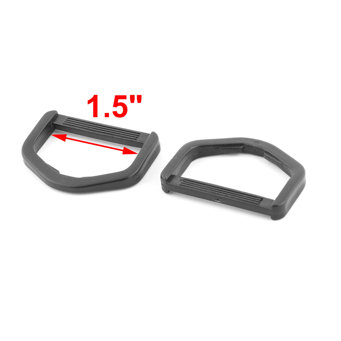 Luggage Shoulder Bag D Shaped Belt Strap Holder Adjustive Ring Buckle 12pcs - image 1 of 3