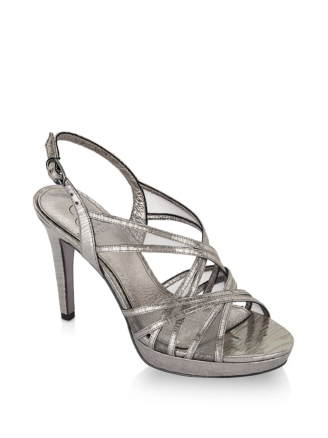Adri Strappy Metallic Strappy Sandals