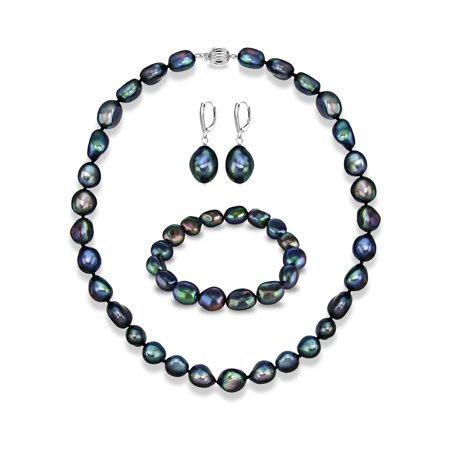 Baroque Freshwater Pearl Earrings - Sterling Silver 11-12mm Baroque Ireggular Freshwater Pearl 24