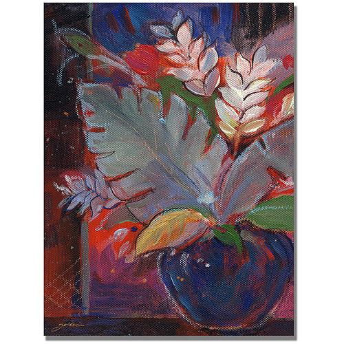 "Trademark Art ""Tropic Night""  Canvas Wall Art by Shelia Golden"