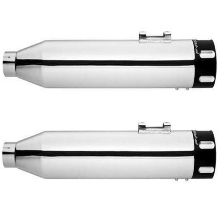 Freedom Performance Eagle Slip-On Mufflers Chrome/Black #HD00374 Harley Davidson ()
