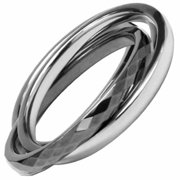 AAB Style GRTS-64R Double Banded Tungsten and Stainless Steel Ring