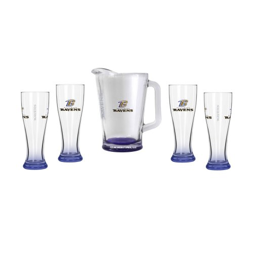 Click here to buy Baltimore Ravens Glassware Gift Set.