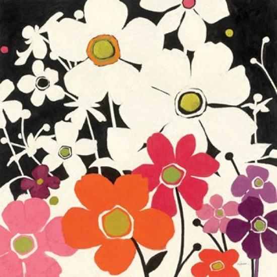 Flower Power Poster Print by Shirley Novak (24 x 24)